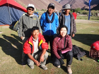 Wong with the trekking staff