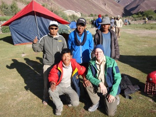 Alan with the trekking staff